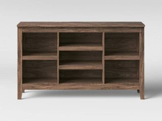 32  Carson Horizontal Bookcase with Adjustable Shelves Walnut Brown   Threshold