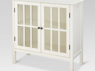 Windham 2 Door Accent Cabinet   Shell  White    Threshold