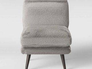 Assembly Required Online Only Harper Faux Fur Slipper Chair Gray   Project 62