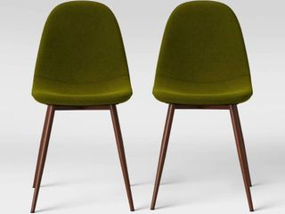 2pc Copley Upholstered Dining Chair Green   Project 62
