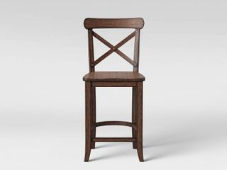 24  litchfield X Back Counter Height Barstool Espresso Brown   Threshold