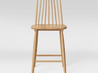 Harwich High Back Windsor Counter Height Barstool Wood Tone Natural   Threshold