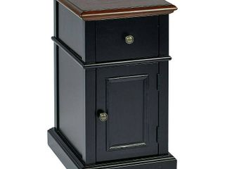 Oxford Chair Side Table  Black 2 Tone