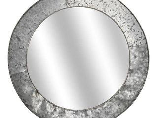 American Art Decor Galvanized Round Metal Mirror  21 75    Grey   A  Retail 77 48