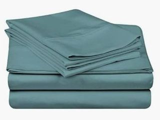 Superior Egyptian Cotton 400 Thread Count Solid Sateen Bed Sheet Set  Retail 75 98