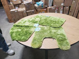Set of 3 Mohawk Home Royal Bath Rug Pistachio Sage Green