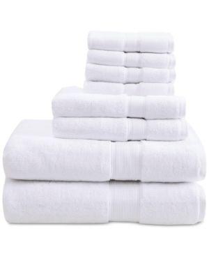 Madison Park Signature 800 GSM 100 percent Cotton 8 piece Antimicrobial Towel Set