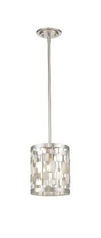 Avery Home lighting Almet Brushed Nickel 1 light Mini Pendant  Retail 238 00