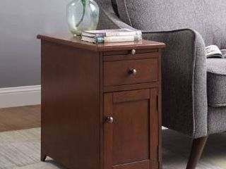 Copper Grove Camporico 1 drawer 1 door Side Table with USB Charger  Retail 152 49