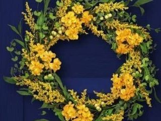 Primrose   Golden Rod Wreath 24