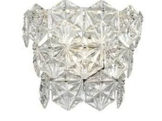 Polished Chrome With Hexagon Clear Crystal Wallchiere In Polished Chrome Finish With Clear Crystal  Retail 124 49
