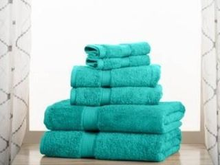 Impressions Hymnia long Staple Combed Cotton 6 Piece Towel Set