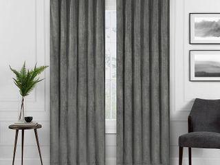 Set of 2 Eclipse Harper Velvet Absolute Zero Blackout Window Panel