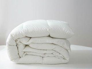 King Size Perugia European White Down Comforter by Twin Ducks Inc  Retail 347 99