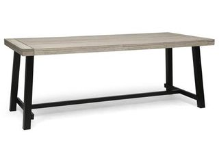 Carlisle Outdoor Eight Seater Wooden Dining Table by Christopher Knight Home  Retail 404 49