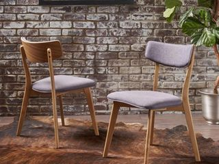 Chazz Mid century Dining Chair by Christopher Knight Home  Set of 2  Retail 144 49