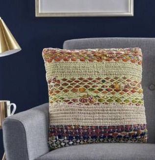 Set of 6 layson Handcrafted Boho Fabric Pillow by Christopher Knight Home