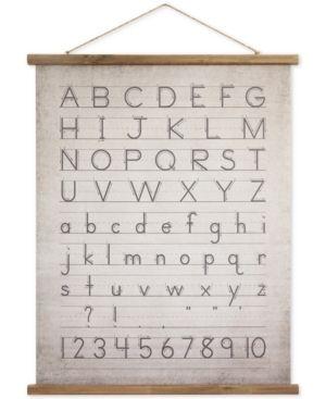 Alphabet   Numbers Wall Decor   31  x 39