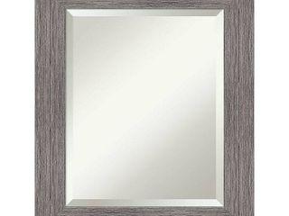 Pinstripe Plank Grey Bathroom Vanity Wall Mirror  Retail 143 99