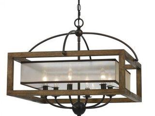 Bronze finish 6 light Square 60 watt Chandelier  Retail 609 70