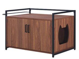 Unipaws Cat litter Box Enclosure  Cat Washroom Bench Nightstand  Retail 189 99