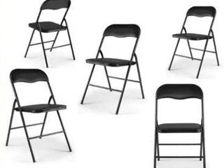 5 PACK Plastic Stackable Commercial Wedding Party Folding Chair  Retail 95 49