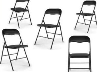 4 PACK Plastic Stackable Commercial Wedding Party Folding Chair