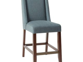 Madison Park Victor Blue Wing Counter Stool   9 w x 24 75 d x 41 5 h  Retail 157 49