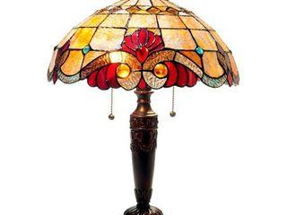 Tiffany Style Victorian Design 2 light Bronze Table lamp  Retail 121 48