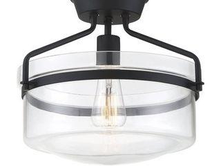 1 light Matte Black Semi Flush  Retail 116 49