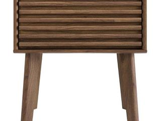 Render End Table Nightstand Walnut   Modway