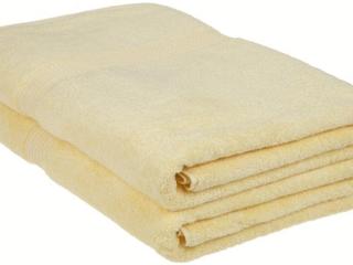 Superior Egyptian Cotton 2 Piece Bath Sheet Set  Canary