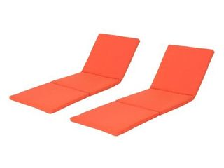 Jamaica Outdoor Water Resistant Chaise lounge Cushion  Set of 2  by Christopher Knight Home  Retail 144 99