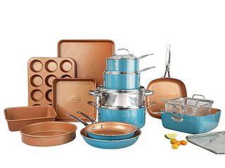 Gotham Steel 20 piece Complete Kitchen Cookware and Bakeware Set  Retail 199 99