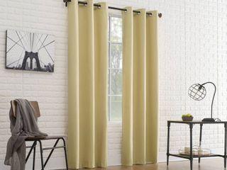 Set of 2 Sun Zero Cooper Thermal Insulated Room Darkening Grommet Curtain Panel