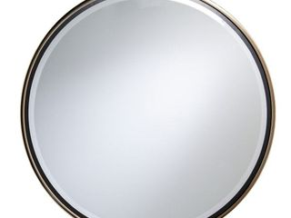 Holly and Martin Wais Round Wall Mirror  Champagne Gold