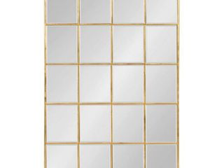 Kate and laurel Denault Framed Windowpane Mirror   24x36  Retail 199 99 gold