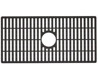 VIGO 29 5 in x 14 625 in Matte Black Silicone Kitchen Sink Protective Bottom Grid For Single Basin 33 in Sink