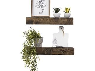Artisan Haute Floating Shelves  Set of 2 expresso