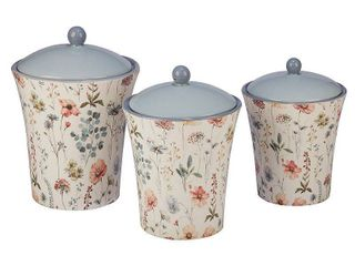 Certified International Country Weekend 3 piece Canister Set  Retail 79 98