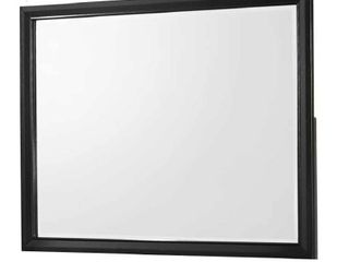 Rectangular Wooden Frame Dresser Top Mirror only Black and Silver  Retail 211 49