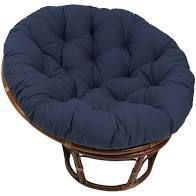 Blazing Needles 44 inch Solid Twill Papasan Cushion only navy