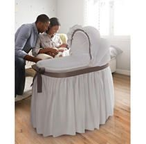 Badger Basket  Wishes  Oval Bassinet with Full length Skirt