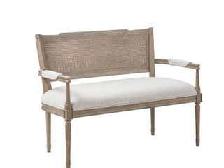 Madison Park Garfield Beige  Reclaimed Natural Settee  Retail 667 99