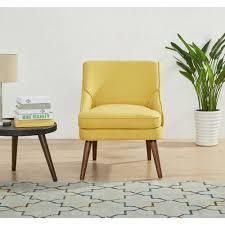 Dana Carson Carrington Tagel Accent Chair  Retail 149 99 yellow
