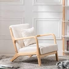 Carson Carrington Kaarnevaara Upholstered Accent Chair Retail 185 49 cream fabric