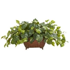 Pothos Artificial Plant in Metal Planter
