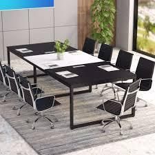 tribesigns 8FT Rectangle Conference Table  Meeting Seminar Table  Retail 299 99 black