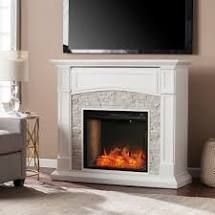 Copper Grove Stevens Transitional White Wood Alexa media Fireplace no insert Retail 665 49