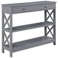 Copper Grove Barregarrow 2 drawer Console Table and Bottom Shelf  Retail 372 49 grey